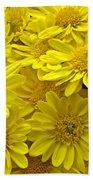 Sunshine Yellow Chrysanthemums Bath Towel