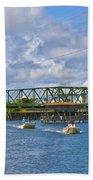 Surf City Swing Bridge Bath Towel