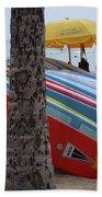 Surfboards On Waikiki Beach Bath Towel