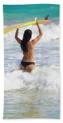 Surfer Girl Bath Towel