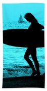 Surfs Up Blue Bath Towel