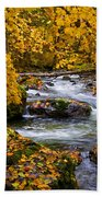 Surrounded By Autumn Bath Towel