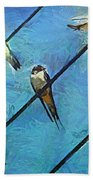 Swallows Goes To South Bath Towel