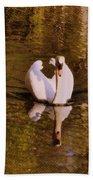 Swan At Susan Lake Bath Towel