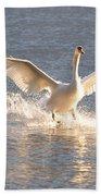 Swan Landing Bath Towel