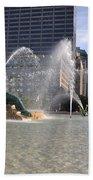 Swann Memorial Fountain In Philadelphia Bath Towel