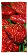 Sweet Florida Strawberries Bath Towel