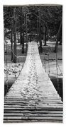 Swinging Cable Foot Bridge Bath Towel