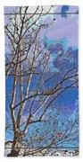 Sycamore Tree Branch Art Bath Towel