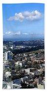 Sydney - Aerial View Panorama Bath Towel