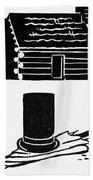 Symbols: Abe Lincoln Bath Towel