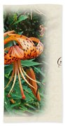 Sympathy Greeting Card - Wildflower Turk's Cap Lily Bath Towel