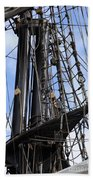 Tall Ship Mast Bath Towel