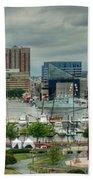 Tall Ships At Baltimore Inner Harbor Bath Towel