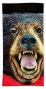 Taxidermy -  Black Bear Bath Towel