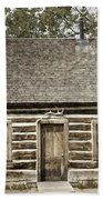 Teddy Roosevelt's Maltese Cross Log Cabin Retro Style Bath Towel