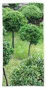 Temple Garden Trees Bath Towel
