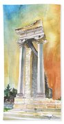 Temple Of Apollo In Kourion Bath Towel
