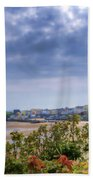 Tenby Pembrokeshire Painted Bath Towel