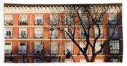 Tenement House Facade In Madrid Hand Towel