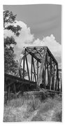 Texas Railroad Bridge Bath Towel
