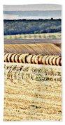 Textured Fields Of France Bath Towel
