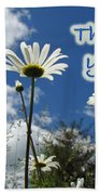 Thank You Greeting Card - Oxeye Daisy Wildflowers Bath Towel