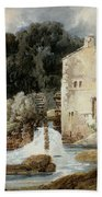 The Abbey Mill - Knaresborough Bath Towel