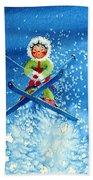 The Aerial Skier - 11 Bath Towel