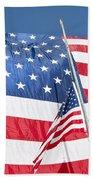 The American Flag Hangs Bath Towel