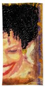 The Artist Who Found Her Smile Bath Towel