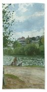 The Banks Of The Oise At Pontoise Bath Towel