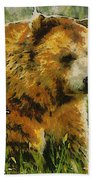 The Bear Painterly Bath Towel