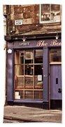 The Bow Bar. Edinburgh. Scotland Bath Towel