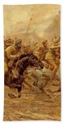 The Charge Of The Bengal Lancers At Neuve Chapelle Bath Towel
