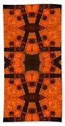 The Color Orange Mandala Abstract Bath Towel