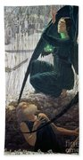 The Death And The Gravedigger Bath Towel