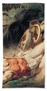 The Death Of Hippolyte Bath Towel