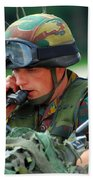 The Driver Of A Mortar Section Bath Towel