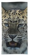 The Eyes Of A Jaguar Bath Towel