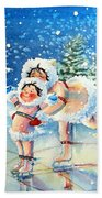 The Figure Skater 4 Hand Towel