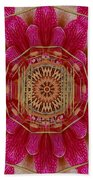 The Golden Orchid Mandala Hand Towel