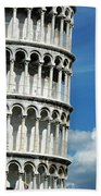 The Leaning Tower Of Pisa Italy Bath Towel