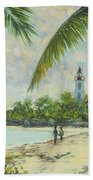 The Lighthouse - Zanzibar Bath Towel