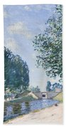 The Loing Canal At Moiret Bath Towel