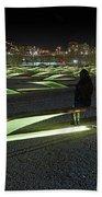 The Lonely Tourist At Pentagon Memorial Bath Towel