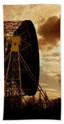 The Lovell Telescope At Jodrell Bank Bath Towel