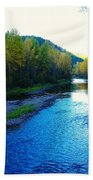 The Moyie River Near Yak B C Bath Towel