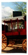 The Old Stage Coach Bath Towel