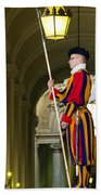 The Papal Swiss Guard Bath Towel